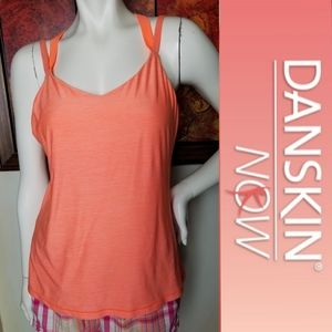 Danskin Athletica 4Strap Tank Top Sports Bra L XL